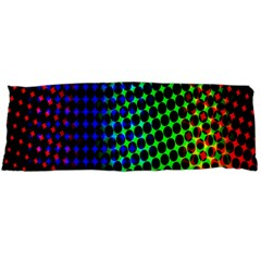 Digitally Created Halftone Dots Abstract Background Design Body Pillow Case Dakimakura (two Sides) by Nexatart