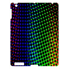 Digitally Created Halftone Dots Abstract Background Design Apple Ipad 3/4 Hardshell Case by Nexatart