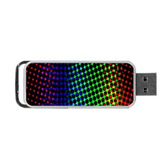 Digitally Created Halftone Dots Abstract Background Design Portable Usb Flash (one Side) by Nexatart