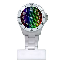 Digitally Created Halftone Dots Abstract Background Design Plastic Nurses Watch