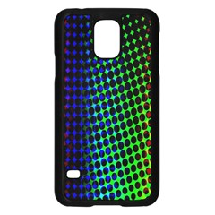 Digitally Created Halftone Dots Abstract Background Design Samsung Galaxy S5 Case (black) by Nexatart