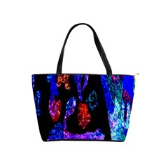 Grunge Abstract In Black Grunge Effect Layered Images Of Texture And Pattern In Pink Black Blue Red Shoulder Handbags by Nexatart