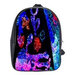Grunge Abstract In Black Grunge Effect Layered Images Of Texture And Pattern In Pink Black Blue Red School Bags (xl)  by Nexatart
