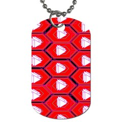 Red Bee Hive Background Dog Tag (one Side) by Nexatart