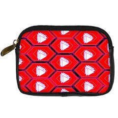Red Bee Hive Background Digital Camera Cases by Nexatart
