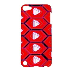 Red Bee Hive Background Apple Ipod Touch 5 Hardshell Case