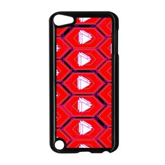 Red Bee Hive Background Apple Ipod Touch 5 Case (black) by Nexatart