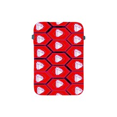 Red Bee Hive Background Apple Ipad Mini Protective Soft Cases by Nexatart