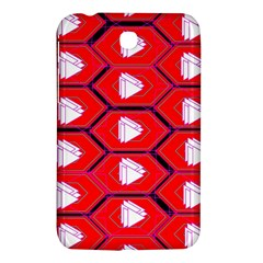 Red Bee Hive Background Samsung Galaxy Tab 3 (7 ) P3200 Hardshell Case  by Nexatart