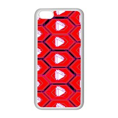 Red Bee Hive Background Apple Iphone 5c Seamless Case (white)
