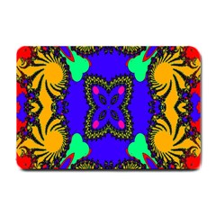 Digital Kaleidoscope Small Doormat  by Nexatart
