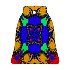 Digital Kaleidoscope Bell Ornament (two Sides) by Nexatart