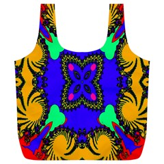 Digital Kaleidoscope Full Print Recycle Bags (l)  by Nexatart