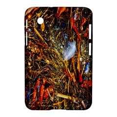 Abstract In Orange Sealife Background Abstract Of Ocean Beach Seaweed And Sand With A White Feather Samsung Galaxy Tab 2 (7 ) P3100 Hardshell Case  by Nexatart