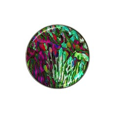 Bright Tropical Background Abstract Background That Has The Shape And Colors Of The Tropics Hat Clip Ball Marker by Nexatart