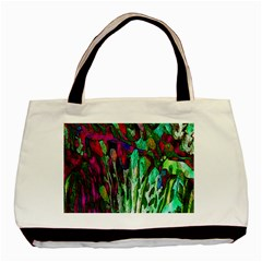 Bright Tropical Background Abstract Background That Has The Shape And Colors Of The Tropics Basic Tote Bag