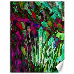 Bright Tropical Background Abstract Background That Has The Shape And Colors Of The Tropics Canvas 36  X 48   by Nexatart