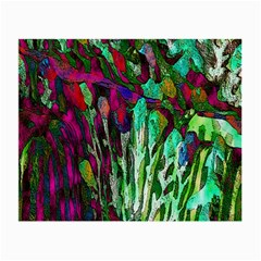 Bright Tropical Background Abstract Background That Has The Shape And Colors Of The Tropics Small Glasses Cloth (2 Side) by Nexatart