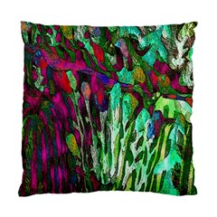 Bright Tropical Background Abstract Background That Has The Shape And Colors Of The Tropics Standard Cushion Case (one Side) by Nexatart