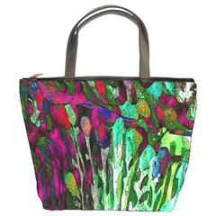 Bright Tropical Background Abstract Background That Has The Shape And Colors Of The Tropics Bucket Bags by Nexatart