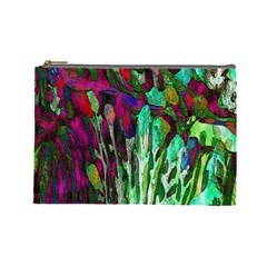 Bright Tropical Background Abstract Background That Has The Shape And Colors Of The Tropics Cosmetic Bag (large)  by Nexatart