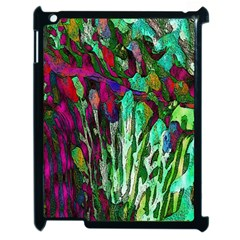 Bright Tropical Background Abstract Background That Has The Shape And Colors Of The Tropics Apple Ipad 2 Case (black) by Nexatart