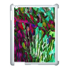 Bright Tropical Background Abstract Background That Has The Shape And Colors Of The Tropics Apple Ipad 3/4 Case (white) by Nexatart