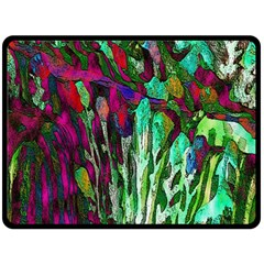Bright Tropical Background Abstract Background That Has The Shape And Colors Of The Tropics Double Sided Fleece Blanket (large)  by Nexatart