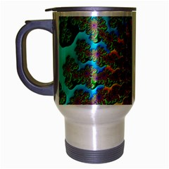 Beautiful Mandala Created With Fractal Forge Travel Mug (silver Gray) by Nexatart