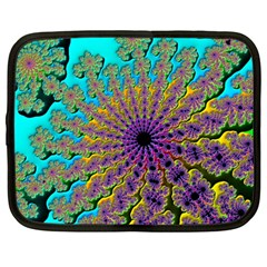 Beautiful Mandala Created With Fractal Forge Netbook Case (large) by Nexatart
