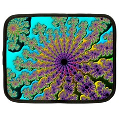 Beautiful Mandala Created With Fractal Forge Netbook Case (xl)  by Nexatart