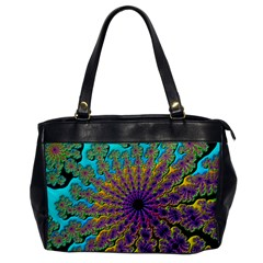 Beautiful Mandala Created With Fractal Forge Office Handbags by Nexatart