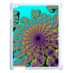 Beautiful Mandala Created With Fractal Forge Apple Ipad 2 Case (white) by Nexatart