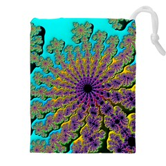 Beautiful Mandala Created With Fractal Forge Drawstring Pouches (xxl) by Nexatart