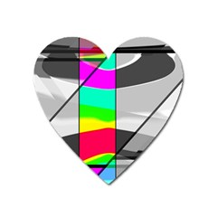 Colors Fadeout Paintwork Abstract Heart Magnet by Nexatart