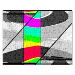 Colors Fadeout Paintwork Abstract Rectangular Jigsaw Puzzl by Nexatart
