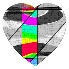 Colors Fadeout Paintwork Abstract Jigsaw Puzzle (heart) by Nexatart