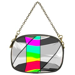 Colors Fadeout Paintwork Abstract Chain Purses (two Sides)  by Nexatart