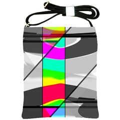 Colors Fadeout Paintwork Abstract Shoulder Sling Bags by Nexatart
