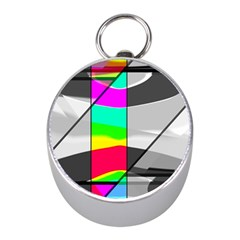 Colors Fadeout Paintwork Abstract Mini Silver Compasses by Nexatart
