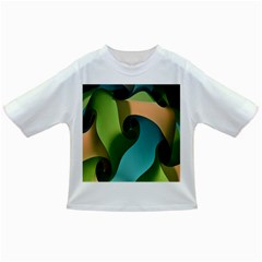 Ribbons Of Blue Aqua Green And Orange Woven Into A Curved Shape Form This Background Infant/toddler T Shirts by Nexatart