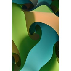 Ribbons Of Blue Aqua Green And Orange Woven Into A Curved Shape Form This Background 5 5  X 8 5  Notebooks by Nexatart