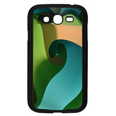 Ribbons Of Blue Aqua Green And Orange Woven Into A Curved Shape Form This Background Samsung Galaxy Grand Duos I9082 Case (black) by Nexatart