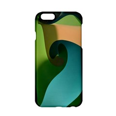 Ribbons Of Blue Aqua Green And Orange Woven Into A Curved Shape Form This Background Apple Iphone 6/6s Hardshell Case by Nexatart