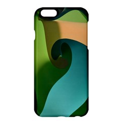 Ribbons Of Blue Aqua Green And Orange Woven Into A Curved Shape Form This Background Apple Iphone 6 Plus/6s Plus Hardshell Case