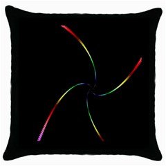 Digital Computer Graphic Throw Pillow Case (black) by Nexatart