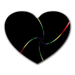 Digital Computer Graphic Heart Mousepads