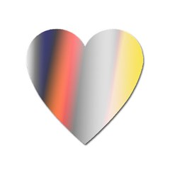 Digitally Created Abstract Colour Blur Background Heart Magnet by Nexatart