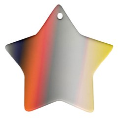 Digitally Created Abstract Colour Blur Background Star Ornament (two Sides) by Nexatart