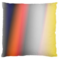 Digitally Created Abstract Colour Blur Background Large Cushion Case (two Sides) by Nexatart